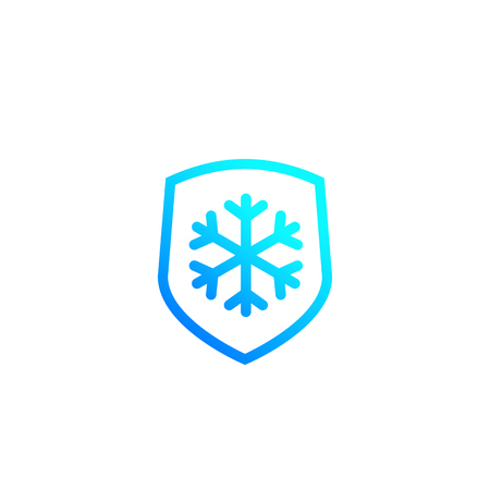 Frost resistant, resistance vector icon