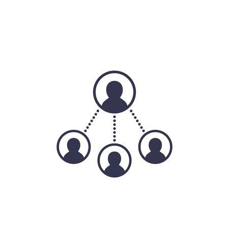 delegation work, vector icon Vecteurs