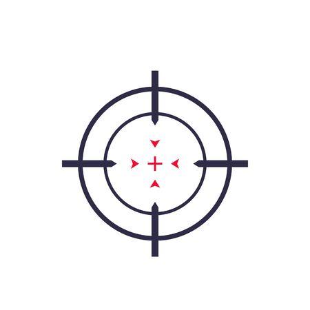 Target aim, crosshair icon