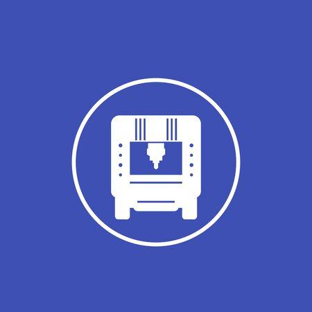 CNC machine icon in circle