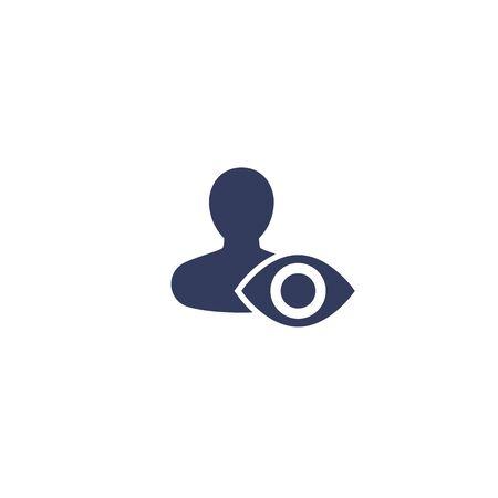 spectateur, icône de spectateur Vecteurs