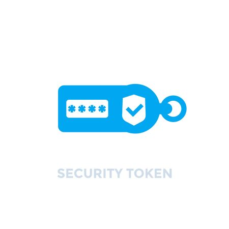 security token on white, vector icon