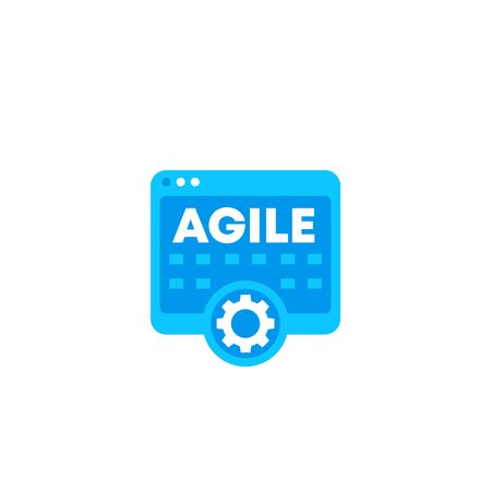 Agile software development icon Vectores