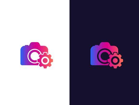 camera service vector logo