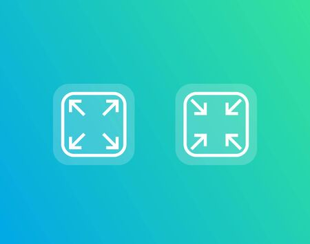 enlarge, reduce vector icons