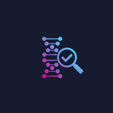 dna research and genetics vector icon