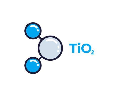 titanium dioxide molecule icon Illustration