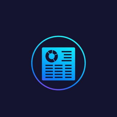 spreadsheet vector icon Ilustração