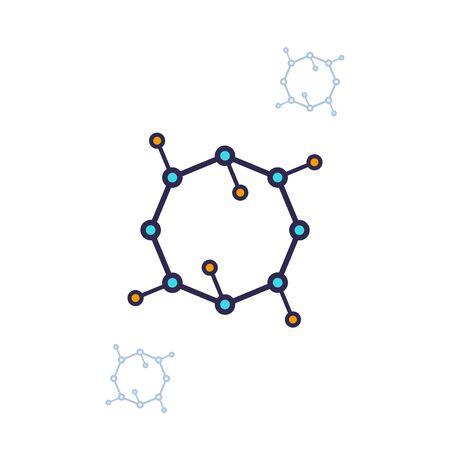 nano structure, nanoparticles icon Illustration