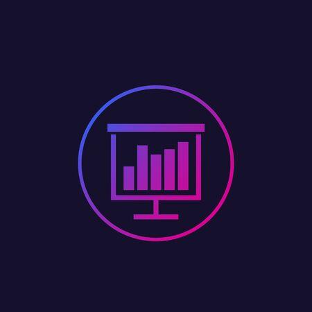 Presentation vector icon