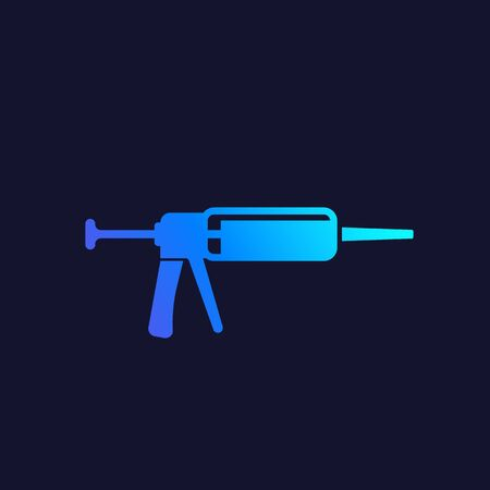silicone gun icon, vector