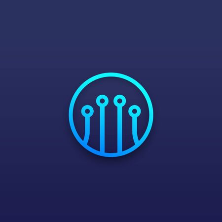 optical fiber vector icon for apps and web