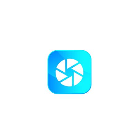 Photo app icon with aperture symbol Banque d'images - 127574480
