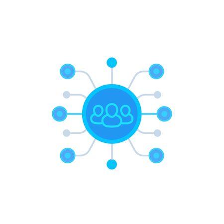 team management icon, vector