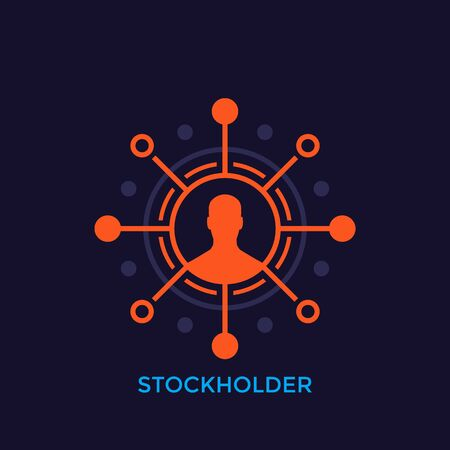 stockholder, investor icon, vector
