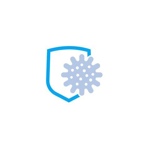 antibacteriële bescherming vector icon