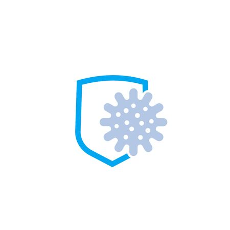 antibacterial protection vector icon Illustration