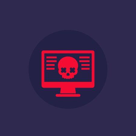 malware, computer virus, cyber attack icon