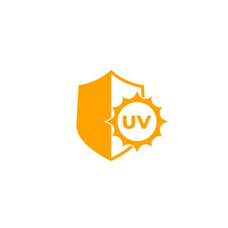 UV protect icon with shield and sun