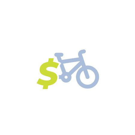 rent bike, bicycle for sale vector icon