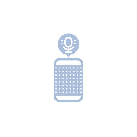 Smart speaker, voice assistant vector icon Illustration