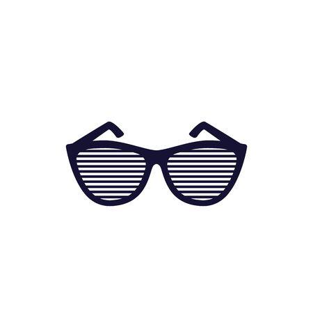 shutter sunglasses vector icon on white