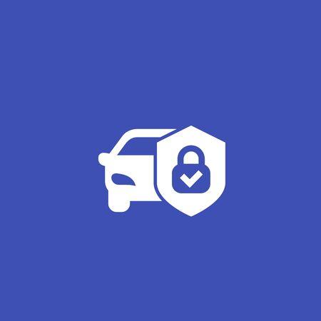 car alarm, protection vector icon