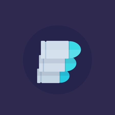 bullets, ammo icon, vector flat icon