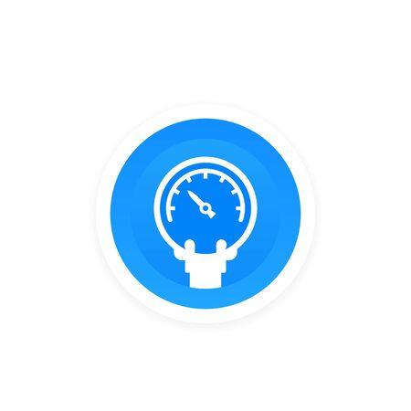 manometer, pressure meter vector icon