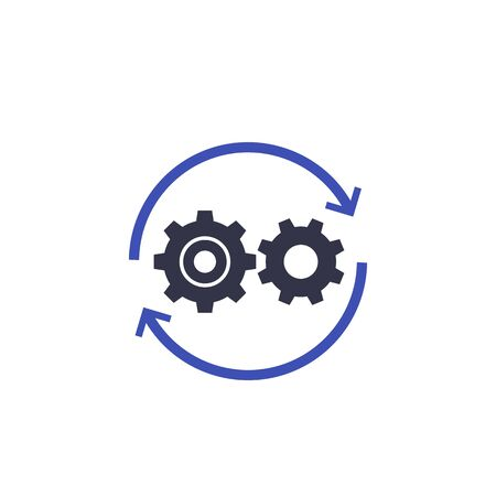 Operations icon with cogwheels Archivio Fotografico - 130034104