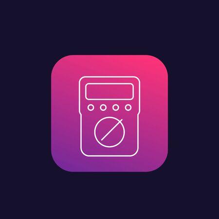 multimeter vector line icon