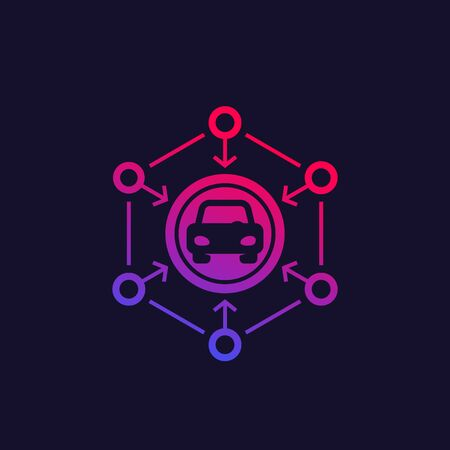 carsharing vector icon for web, apps