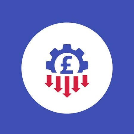 cost reduction icon with pound