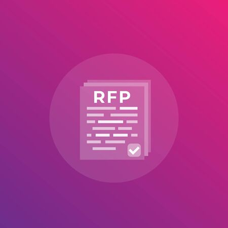 RFP, request for proposal, vector transparent icon