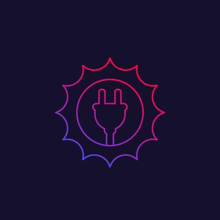 Solar energy line vector icon