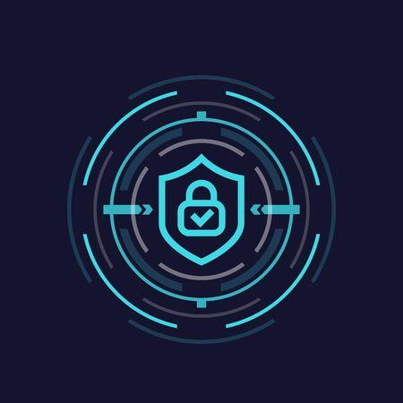 encryption concept, vector