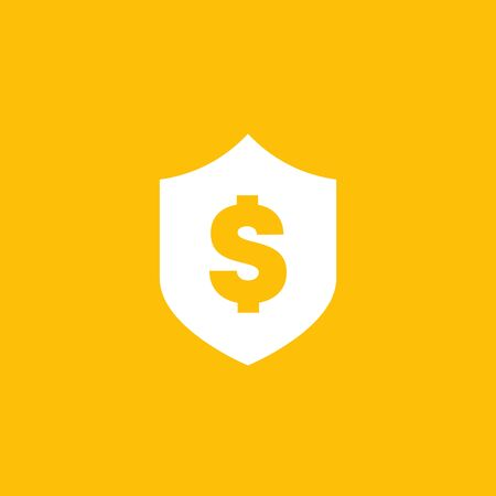 Shield with dollar icon Иллюстрация