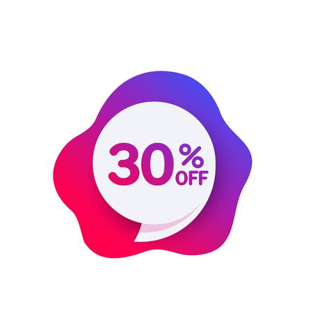 30 off discount offer, sale banner Фото со стока - 130034376