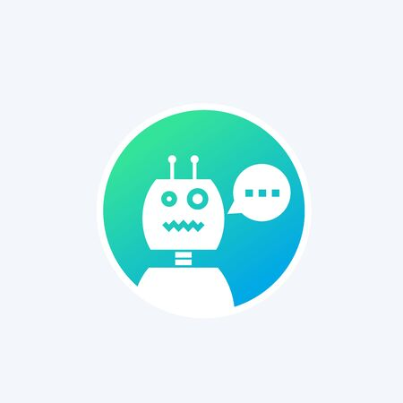 robot, chatbot vector icon