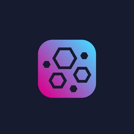 nanoparticles, hexagon nano molecules, vector
