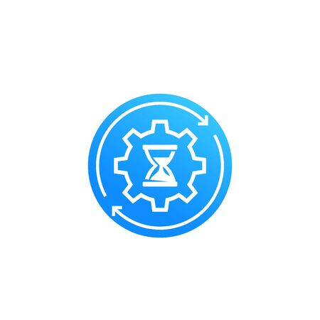 productivity and efficiency concept, vector icon