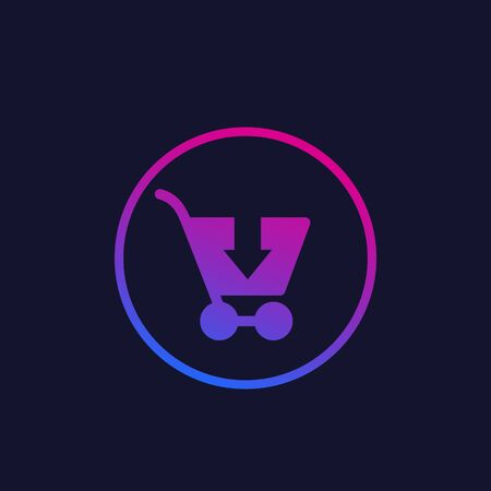Order, shopping cart, online purchase vector icon