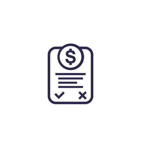 Icono de factura online Ilustración de vector