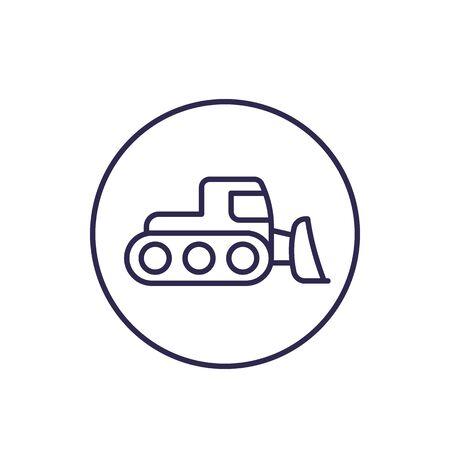 snowplow icon, linear Imagens - 130034598