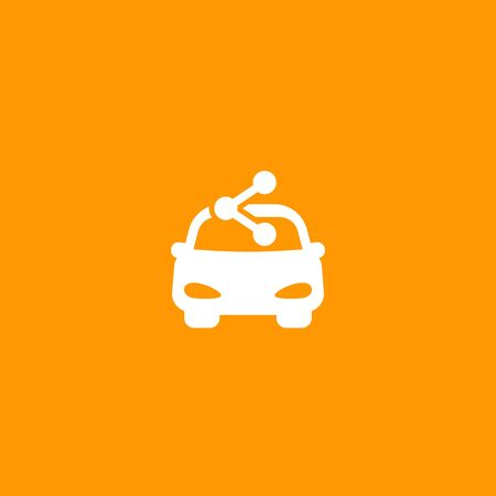 carsharing service icon for web and apps, car and share sign Stock Illustratie