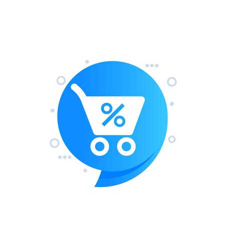 Discount, special offer vector label, tag for web Иллюстрация