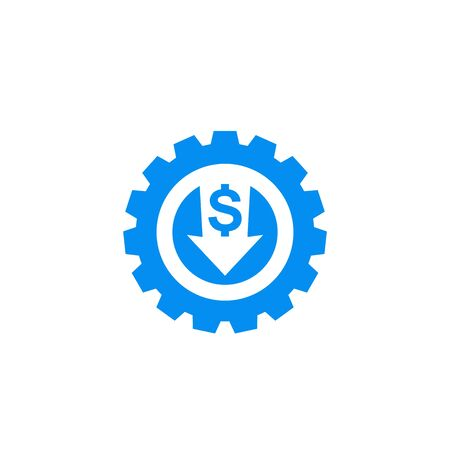 reduce, decrease costs icon