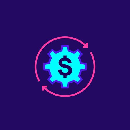 cost optimization, vector icon, sign