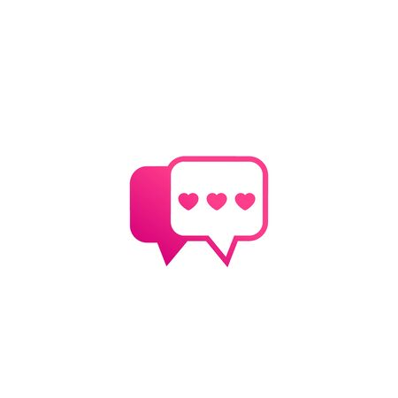 Dating app, love chat logo icon