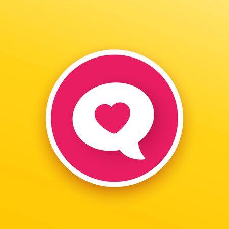 Dating, online love chat icon